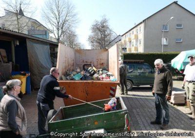 Arbeitseinsatz Müll sammeln Februar 2019