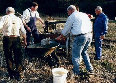 horstaufbau zement anrühren