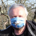 Hubertus Krahner Storch auf mit Mund-Nasen-Schutz